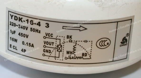 Moteur ventilo UI climatiseur