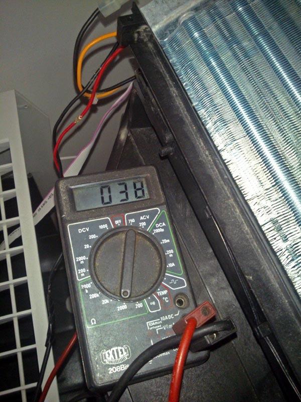 multimètre en mode ohmmètre dépannage clim