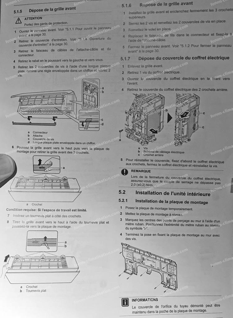 notice installation clim Daikin FTXA25A