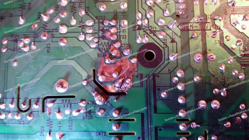 panne carte clim Hitachi RAM 53QH5