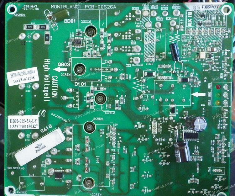 panne carte clim Samsung AQV09AWAX