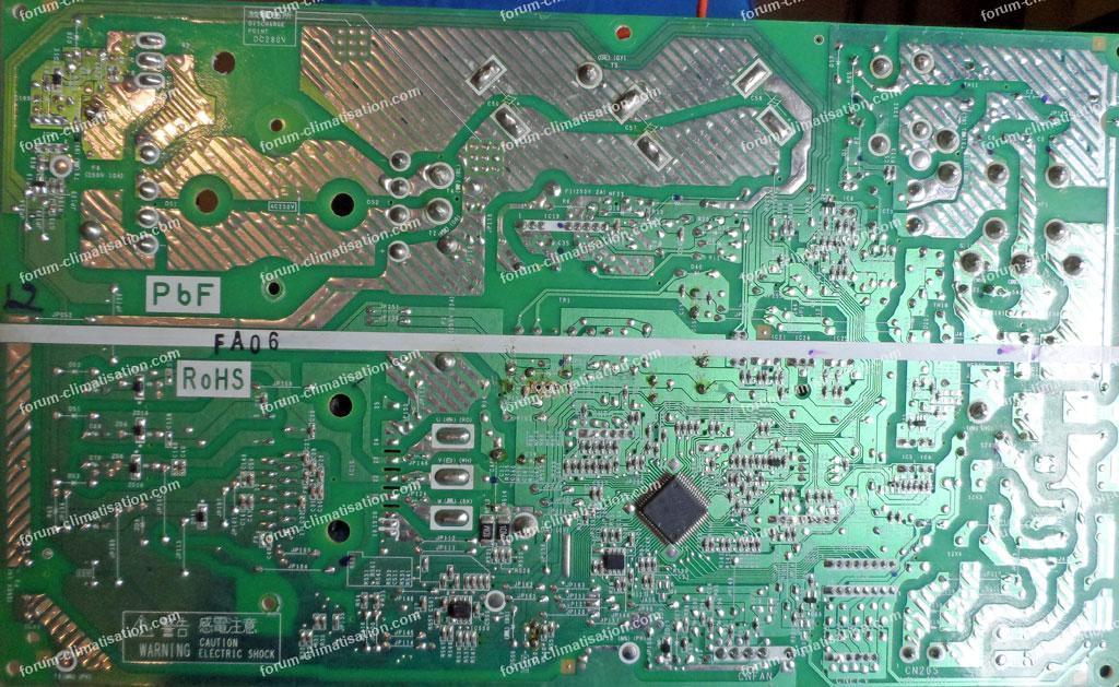 dépannage carte électronique clim réversible Mitsubishi