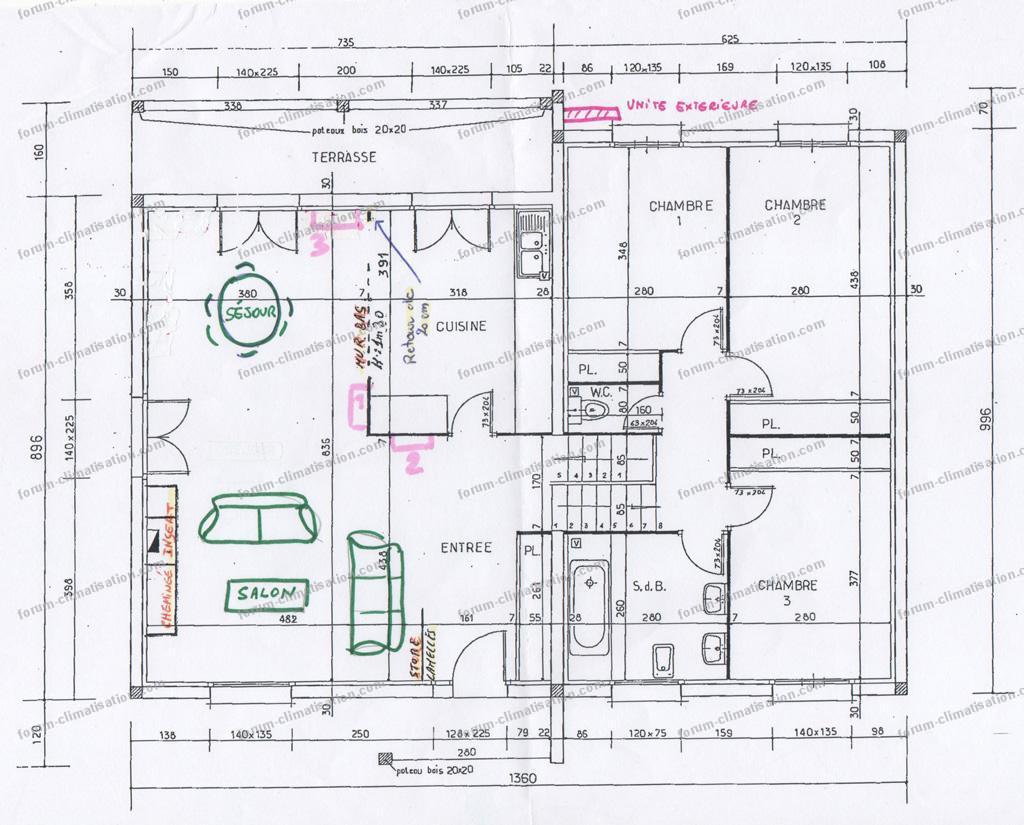 plan installation splits Mitsubishi hyper heating