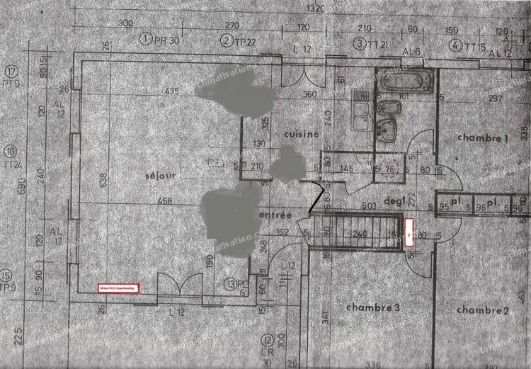 Plan de la maison installation PAC Mitsubishi