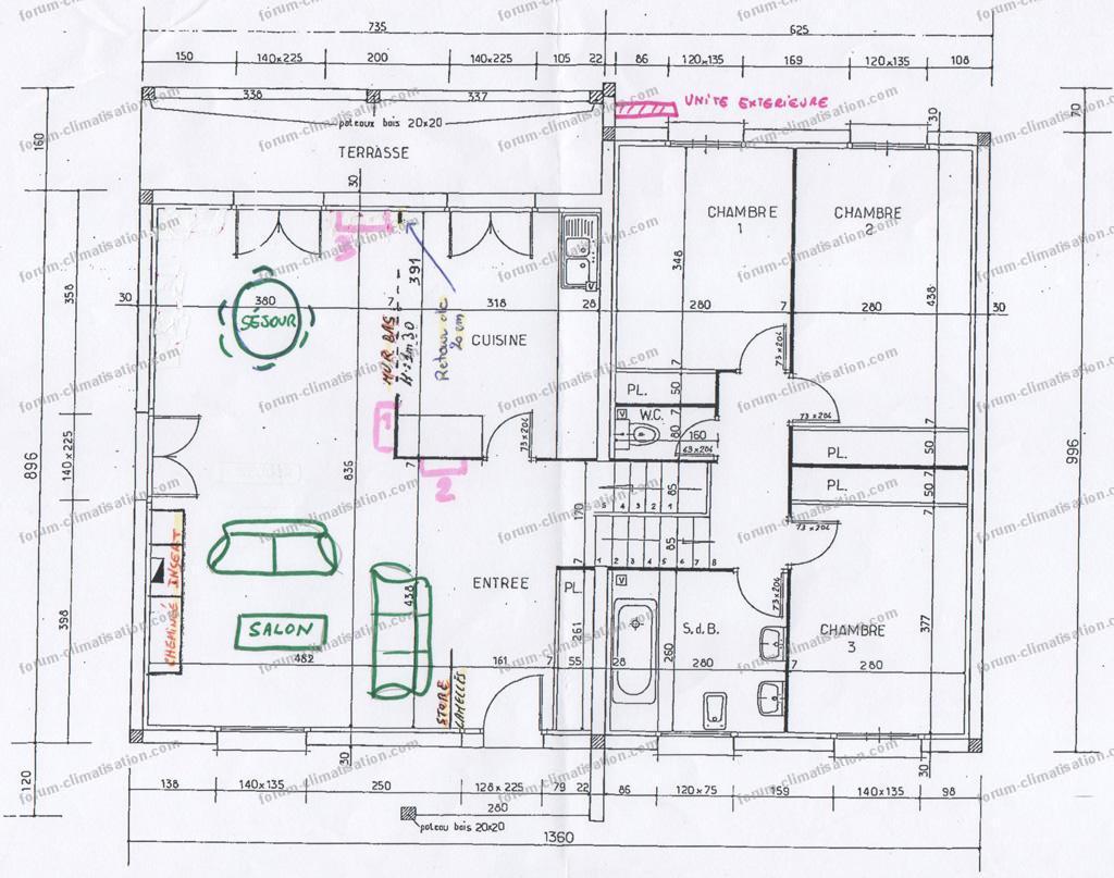 plan emplacement console Daikin