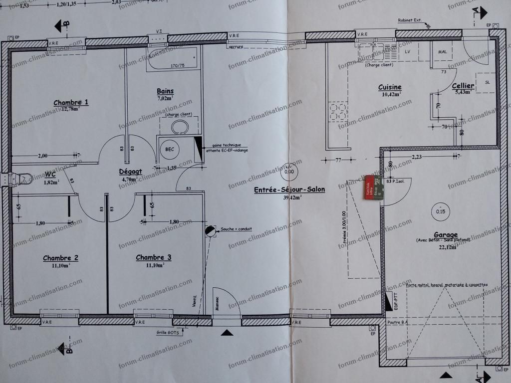 plan installlation climatisation maison