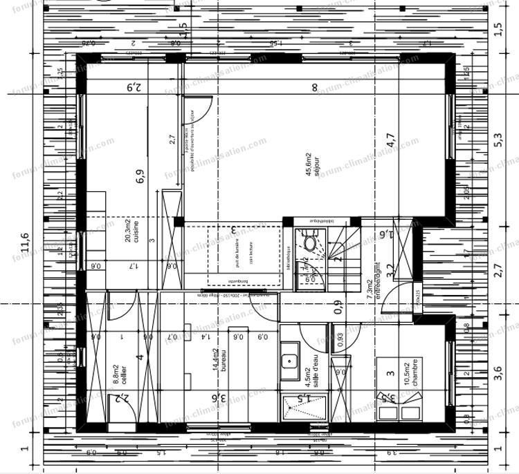 forum climatisation chauffage conseils installation pompe chaleur air air sur une maison rt2012. Black Bedroom Furniture Sets. Home Design Ideas