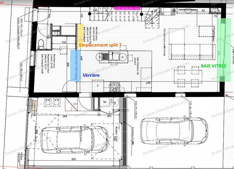 nouveau plan maison PAC Mitsubishi