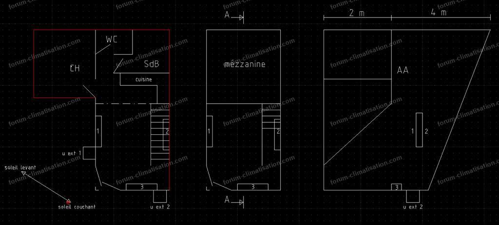 plan position unités intérieures