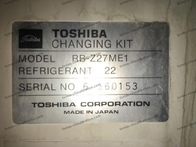 plaque signalétique splits Toshiba