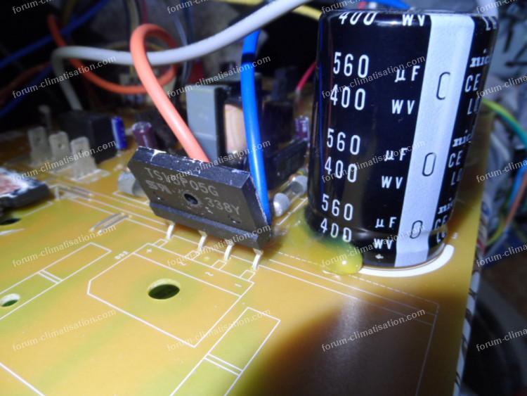 pont de diode dépannage carte clim Mitsubishi