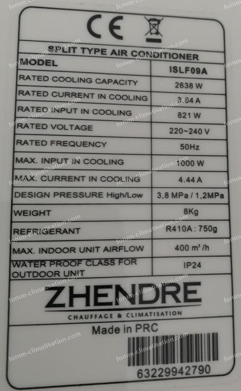 problème climatisation Zenithair