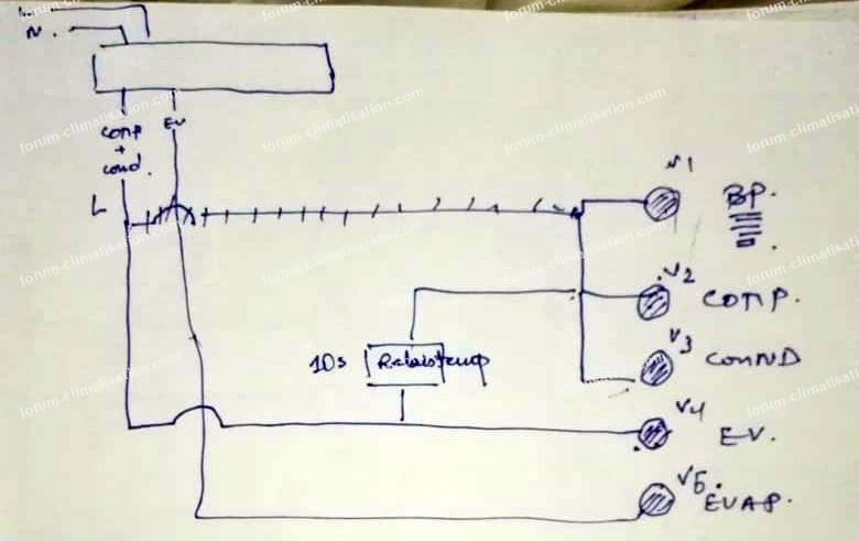 Schéma pump down avec régulateur électronique