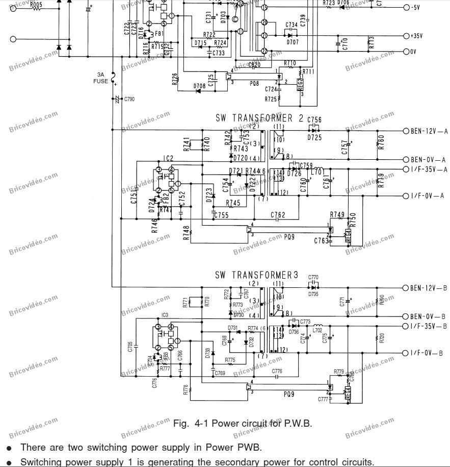 pwb switch power schéma