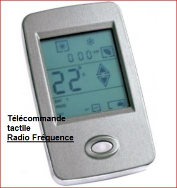 radio frequence ecoclim telecommande tactile