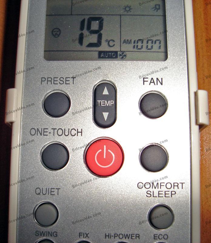 Réglage de température pompe à chaleur