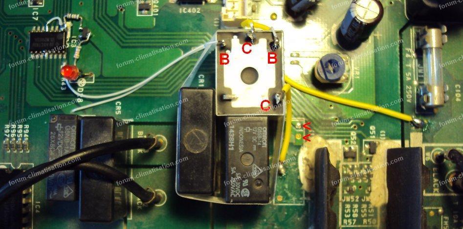 relais ventilo clim Atlantic Fujitsu