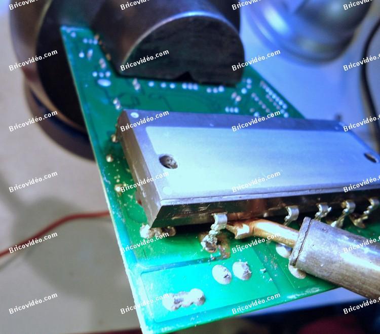 remplacer transistors carte de puissance clim