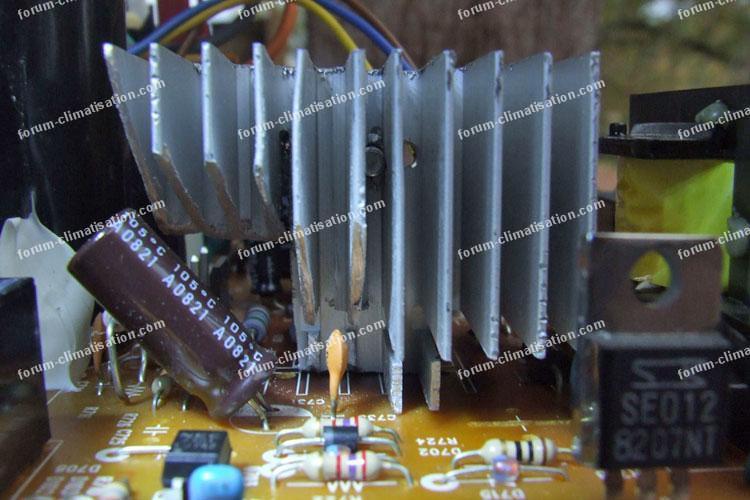 Réparation carte électronique climatisation