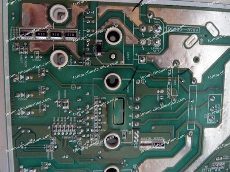 réparation carte électronique climatisation Mitsubishi