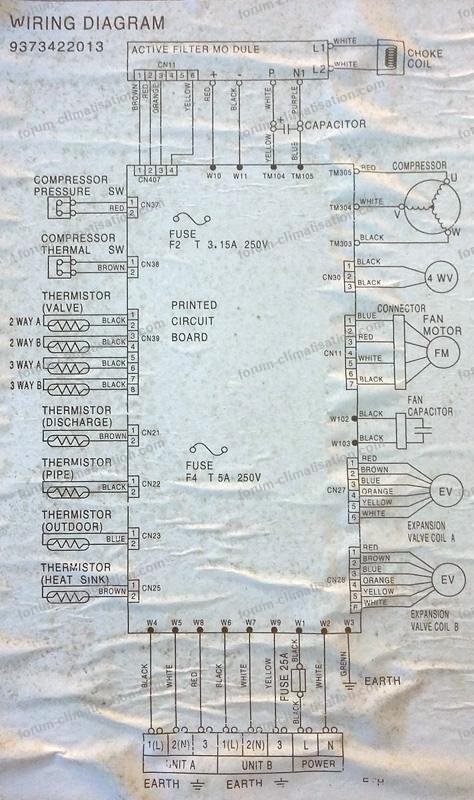 schéma clim Atlantic Fujitsu