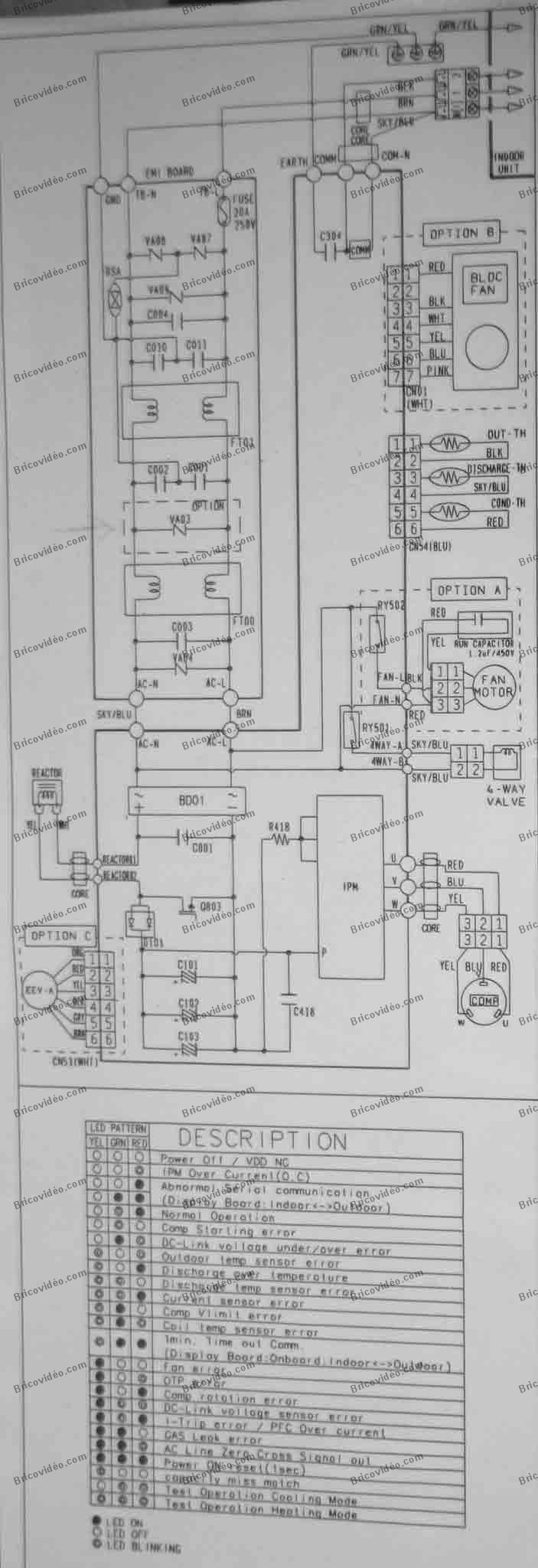 schéma clim Samsung AQV09AWAX