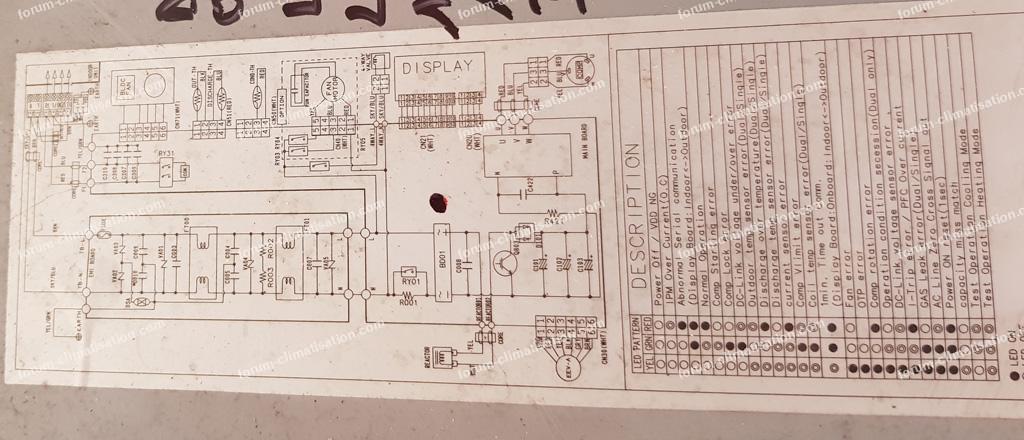 schéma clim Samsung UH070EAV1