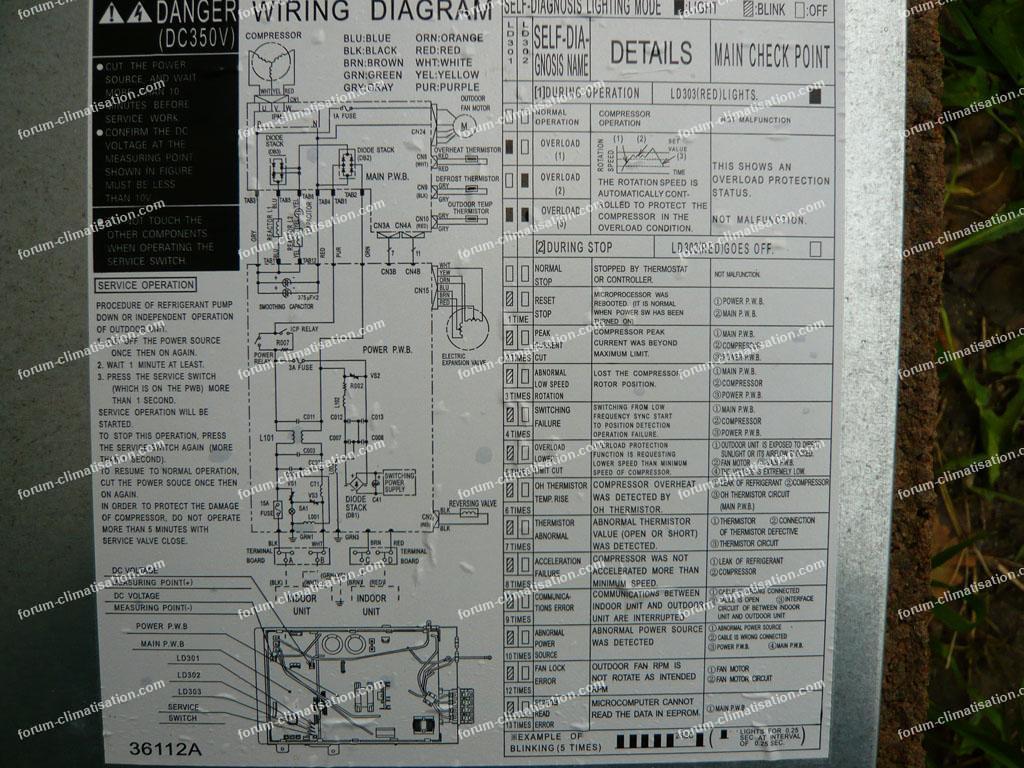 schéma climatisation Hitachi Shirokuma