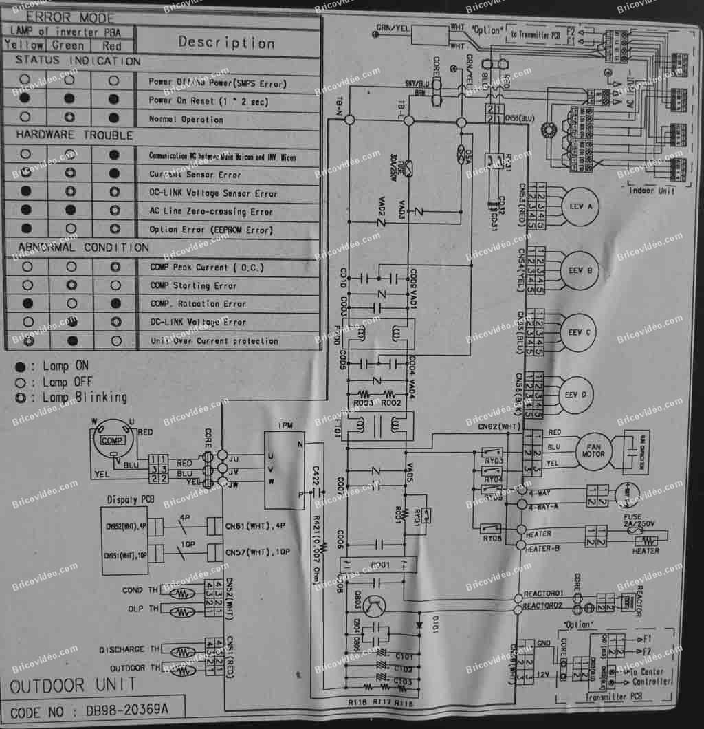 schema climatiseu samsung mh026fpea