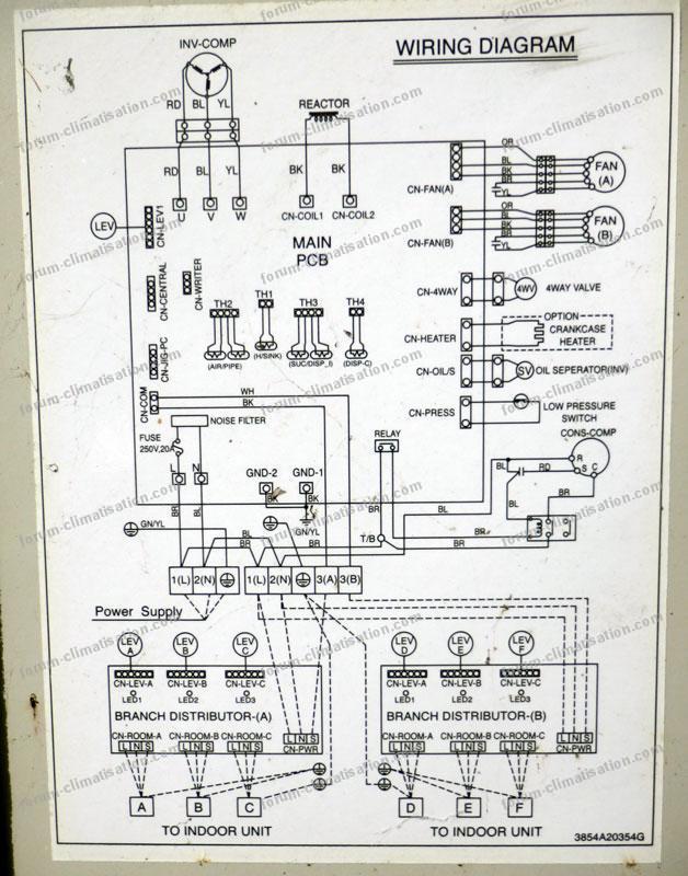 schéma PAC/LG Inverter FM40AH-UHO