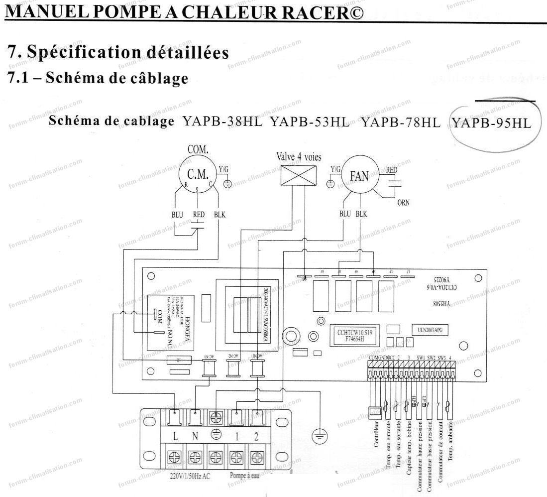 forum climatisation panne pompe chaleur racer yapb 95hl. Black Bedroom Furniture Sets. Home Design Ideas