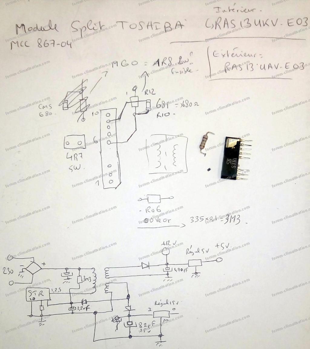 schéma split Toshiba