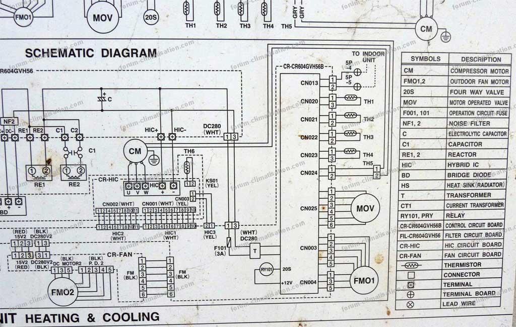 schematic diagram pompe à chaleur Sanyo