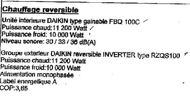 sensation de froid climatisation gainable Daikin