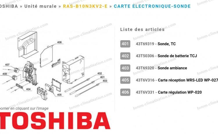 sondes clim Toshiba