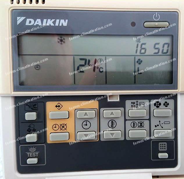 télécommande filaire BRC1D52 Daikin