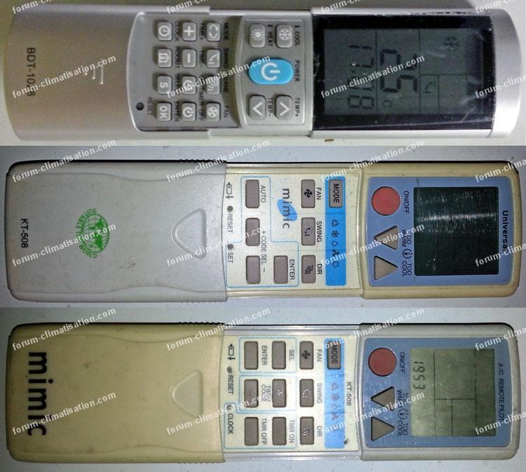 télécommande universelle pour climatiseur