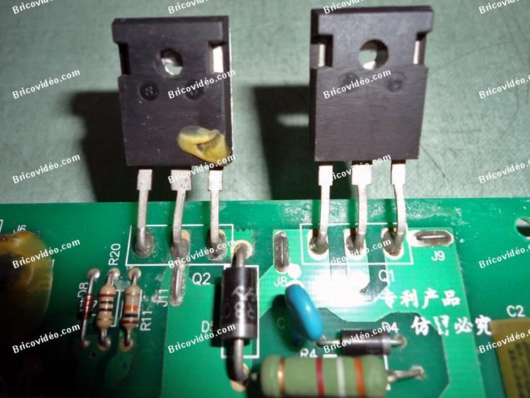 transistors carte de puissance