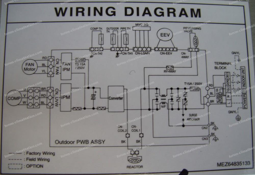 wiring diagram clim LG