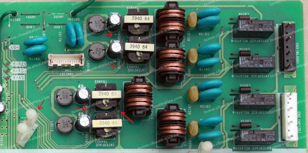 zoom carte clim Hitachi ram80 qh5